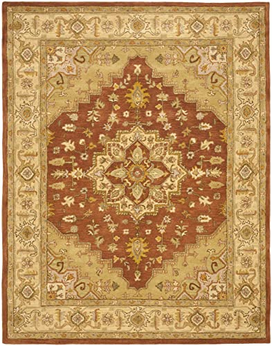 Safavieh Heritage Collection HG345A Handcrafted Traditional Oriental Rust and Gold Wool Area Rug 6 x 9