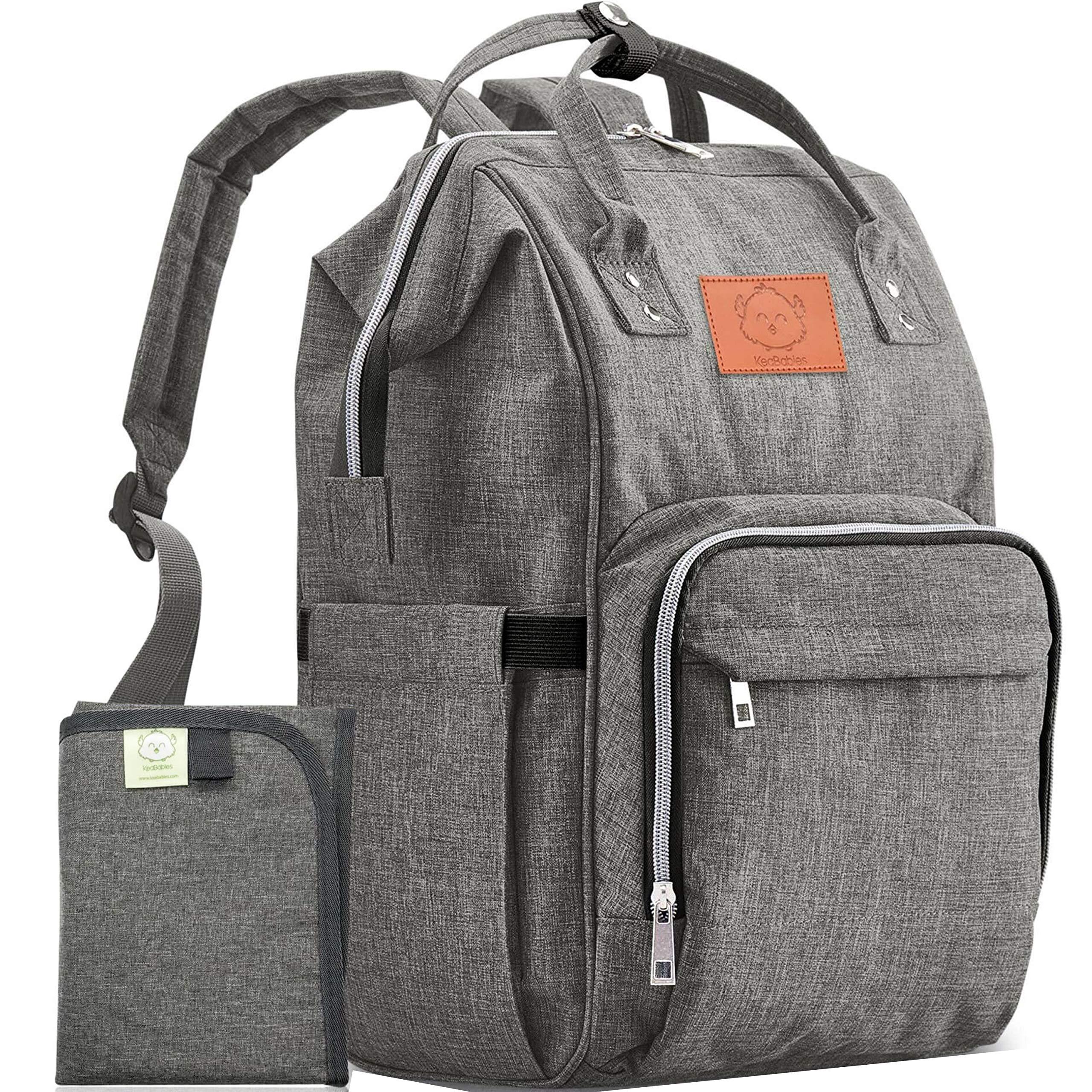 Diaper Bag Backpack - Large Waterproof Travel Baby Bags by KeaBabies