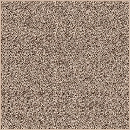 Koeckritz Square 8 X8 Indoor Frieze Shag Area Rug – Bramble II- Plush Textured Carpet with Premium Bound Polyester Edges.