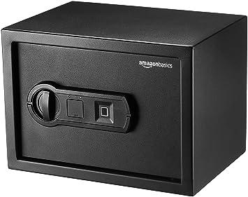 AmazonBasics - Caja fuerte con lector biométrico de huella dactilar - 10 l: Amazon.es: Bricolaje y herramientas