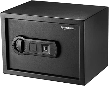AmazonBasics Biometric Fingerprint Home Safe, 0.5 Cubic Feet