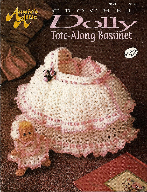 Crochet Dolly Tote-Along Bassinet (annie's attic) annie' s attic staff