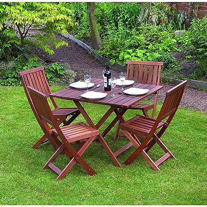 Kingfisher - Set de muebles de patio / jardín de Madera robusta ...