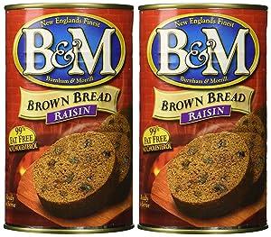 B & M BREAD BROWN RAISIN, 16 OZ (Pack of 2)