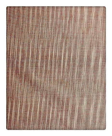 BHAWANA KHADI ASHRAM MAUZAMPUR JAITRA Handwoven Men's Cotton Ethnic Fabric (Brown)