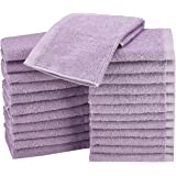 AmazonBasics Cotton Washcloth/Face Towel - Pack of 24, Lavender