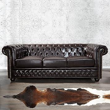 cague - Uso da divano [Winchester] marrone scuro in similpelle in ...