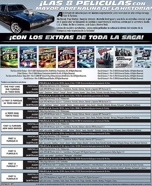 Pack: Fast & Furious (1-8) [Blu-ray]: Amazon.es: Vin Diesel ...