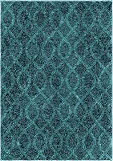 "product image for Orian Rugs Spoleto Geo Loop Geo Area Rug, 7'10"" x 10'10"", Aqua"