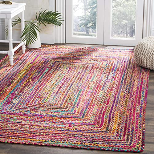 Safavieh Cape Cod Collection CAP202A Red and Multi Premium Jute 9 x 12 Area Rug