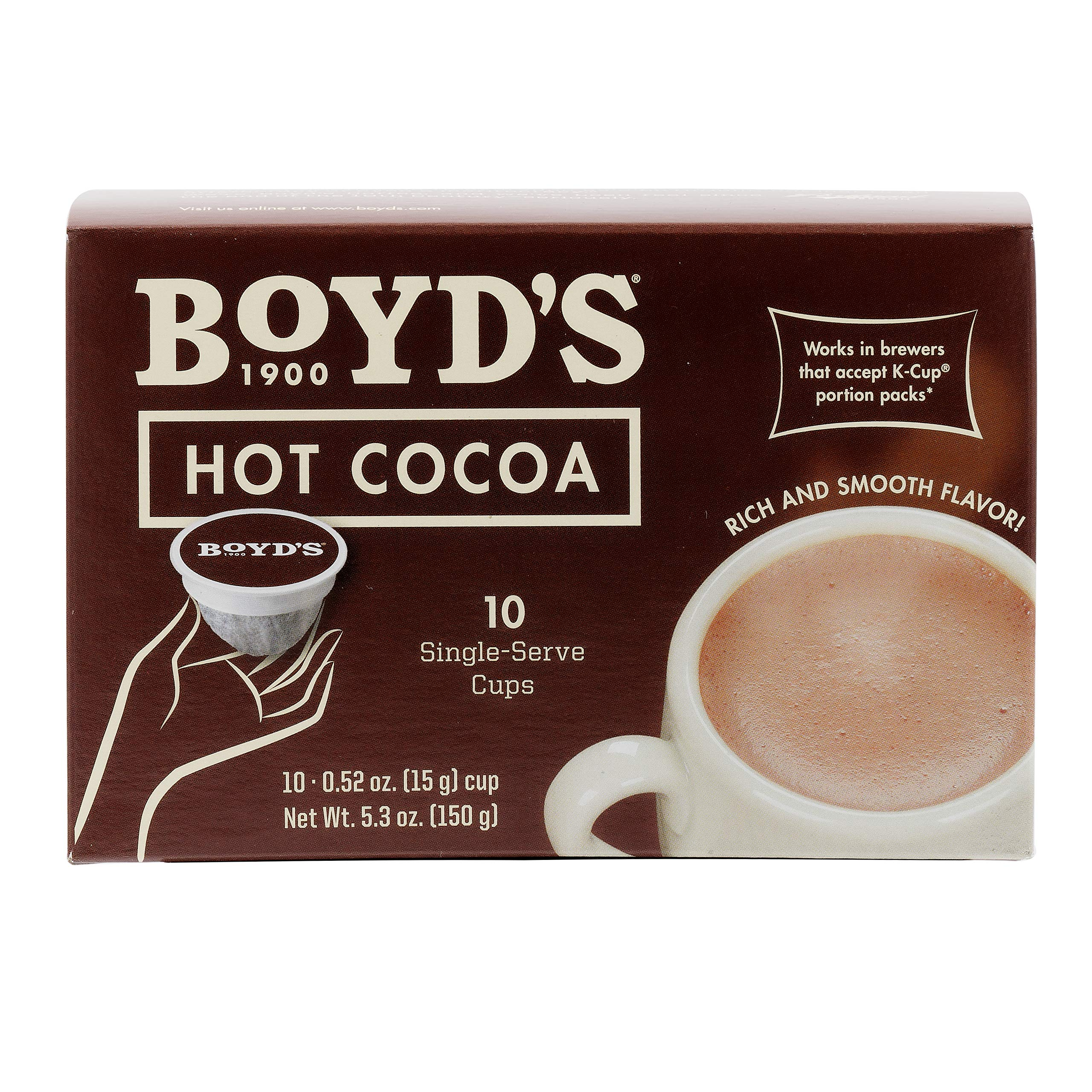 Boyd's Hot Cocoa  - Single Cup - 10 Count Per Box (Case of 6) by Boyd's Coffee