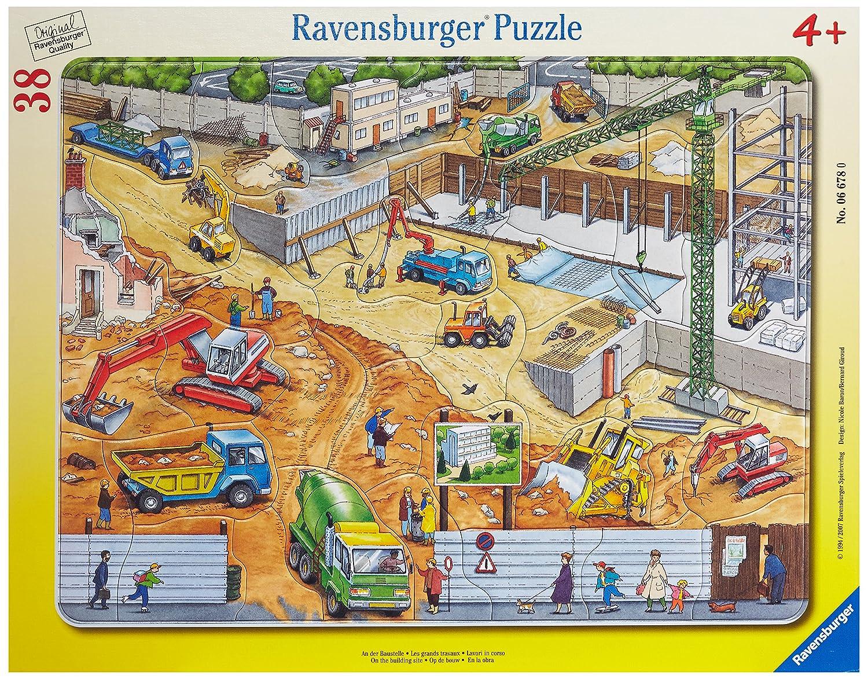 Ravensburger 06678 - An der Baustelle Ravensburger Spielverlag Cartoons & Kinderpuzzles Kinderpuzzles / Rahmenpuzzles