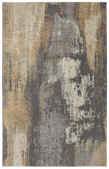 Mohawk Berkshire Truro Contemporary Woven Soft Shag Area Rug, Grey, ...