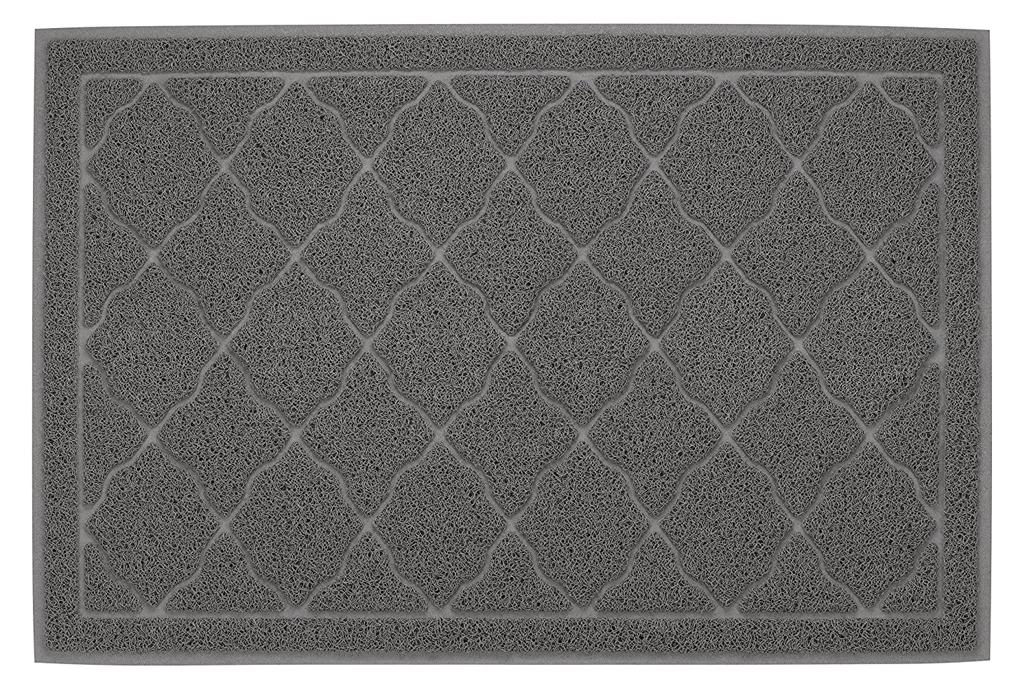 FINNKARE Litter Mat for Cat BPA FREE Gray Traps Litter from Box and Paws Cat Pad Soft on Paws Easy to Clean Durable.