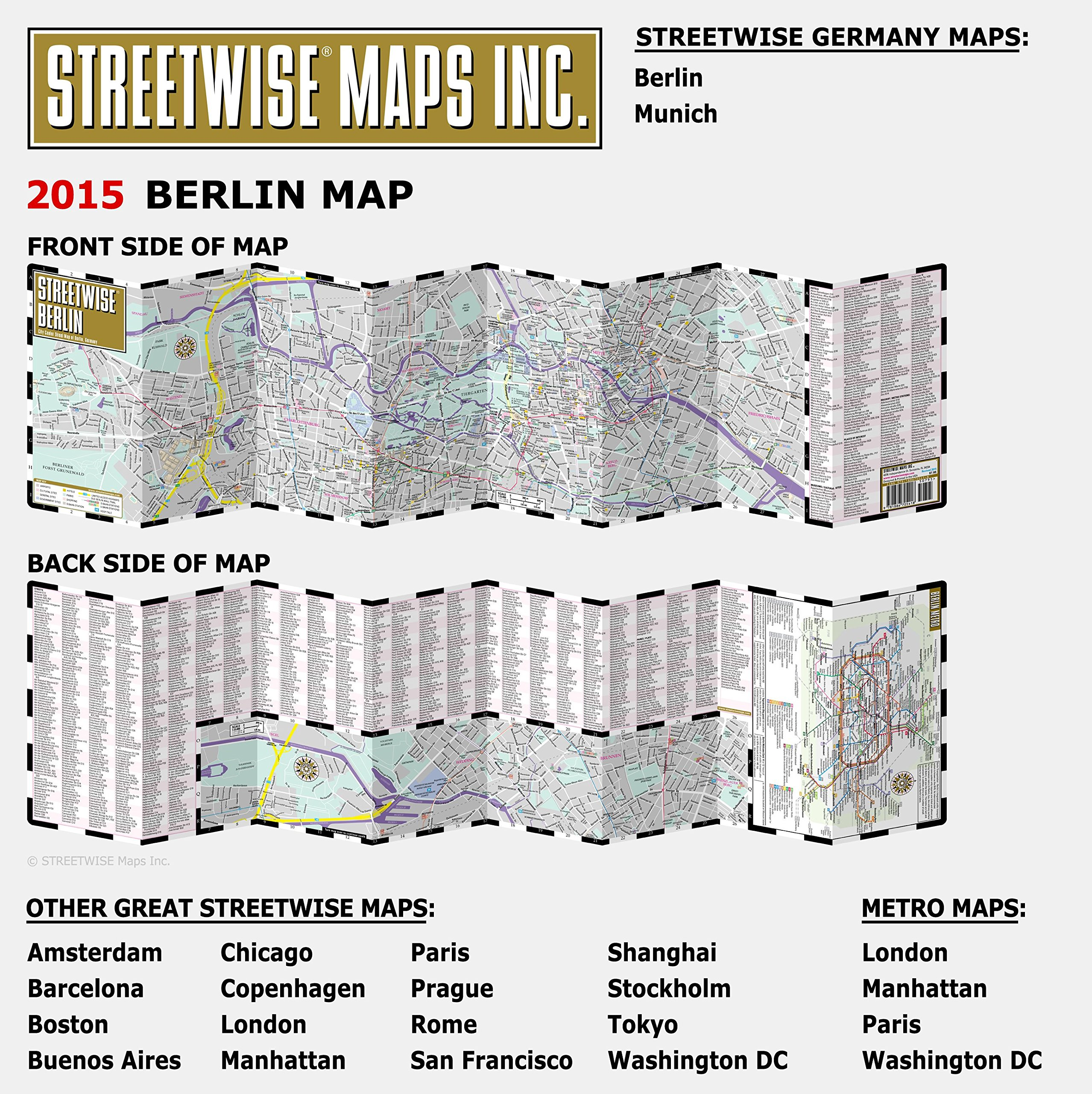 Streetwise Berlin Map Laminated City Center Street Map of Berlin