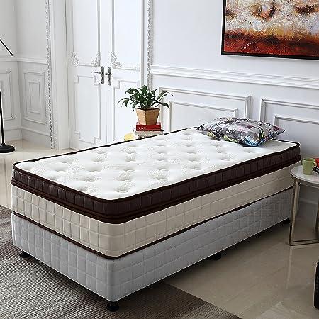 Le Confort Twin Size Bed Mattress 11 Inch Gel Memory Foam Pillow Top Mattress California Fire Resistant Design Spring Hybrid Mattress
