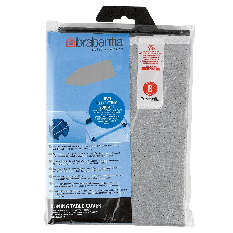 Brabantia - Funda protectora para mesa de planchar, Gris (Metallizzato), 124x38 cm, 1 unidad: Amazon.es: Hogar