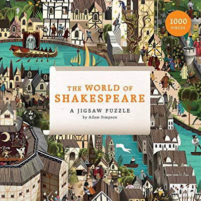Laurence King Publishing The World of Shakespeare (1000 Piece Jigsaw Puzzle): Simpson, Adam: Toys & Games