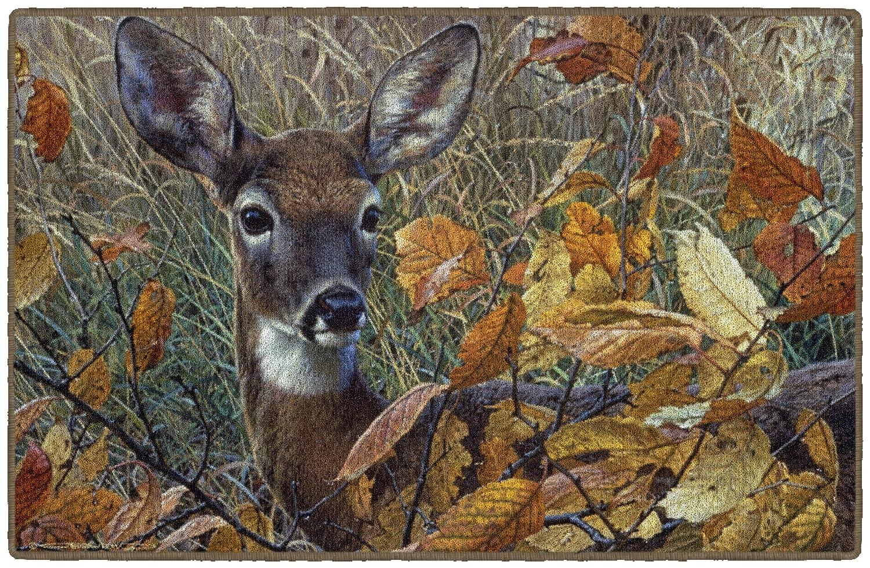 Brumlow Mills EW10117-20x34 Autumn Lady Wildlife Deer Rug 18 x 210