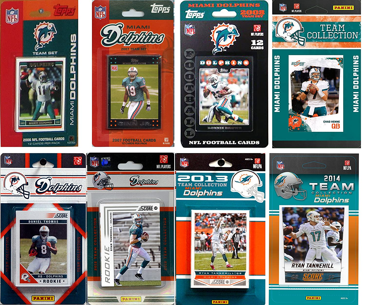 C/&I Collectables NFL Miami Dolphins Licensed Trading Card Team Set