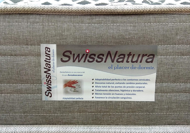 SwissNatura Colchon Muelle ensacado Independiente con viscografeno y viscogel Berna (90x190): Amazon.es: Hogar