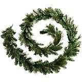 WeRChristmas - Ghirlanda natalizia decorativa, 2,7 m, stile vittoriano, pino