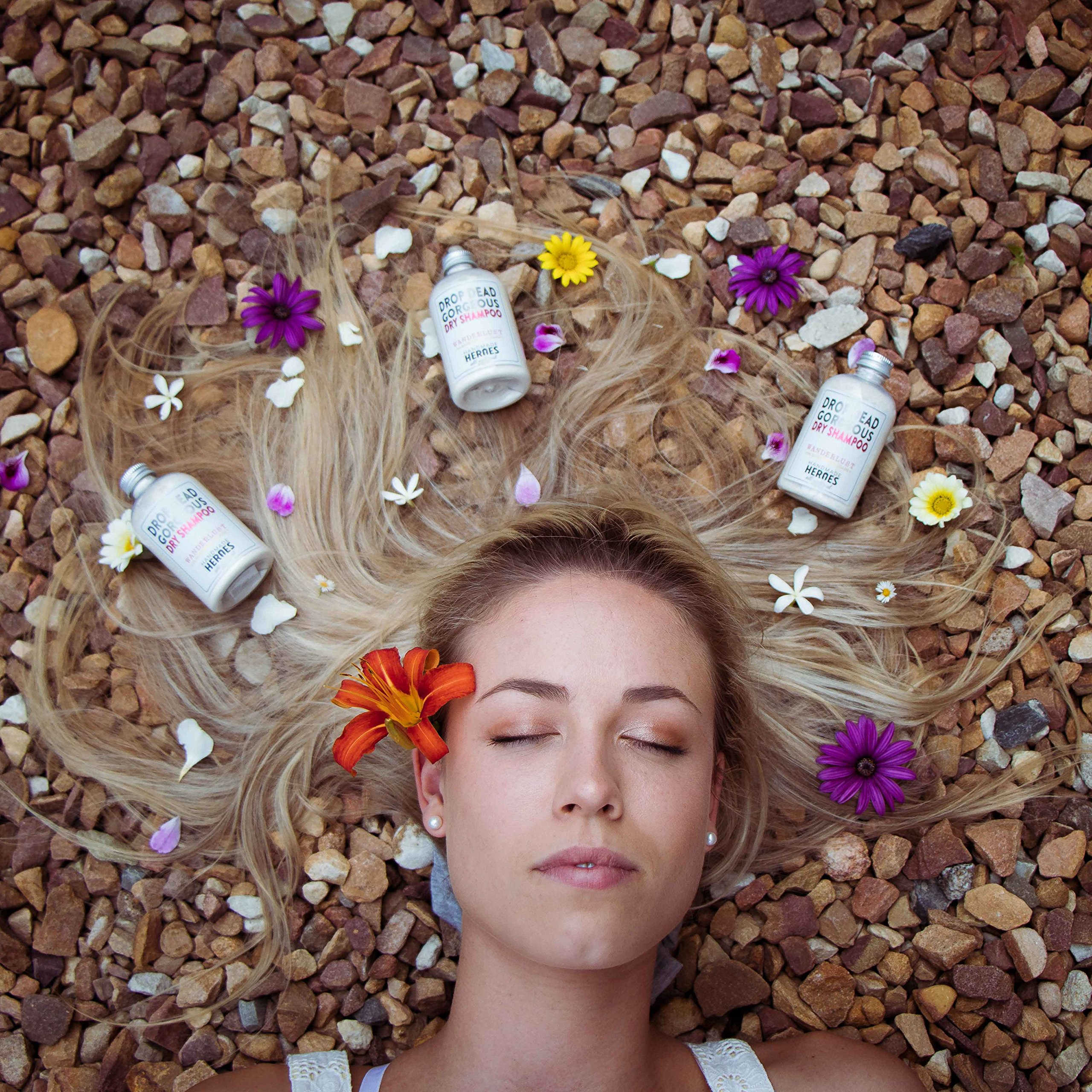 Natural Vegan Dry Shampoo Powder for Light Hair Blondes (2.4oz) by Handmade Heroes (Image #2)