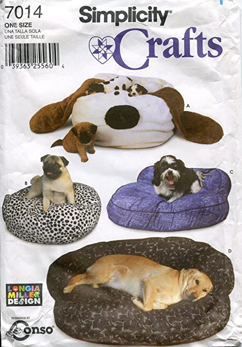 Simplicity Sewing Pattern 7014 - Use to Make - Dog Beds - Couch, Dog ...