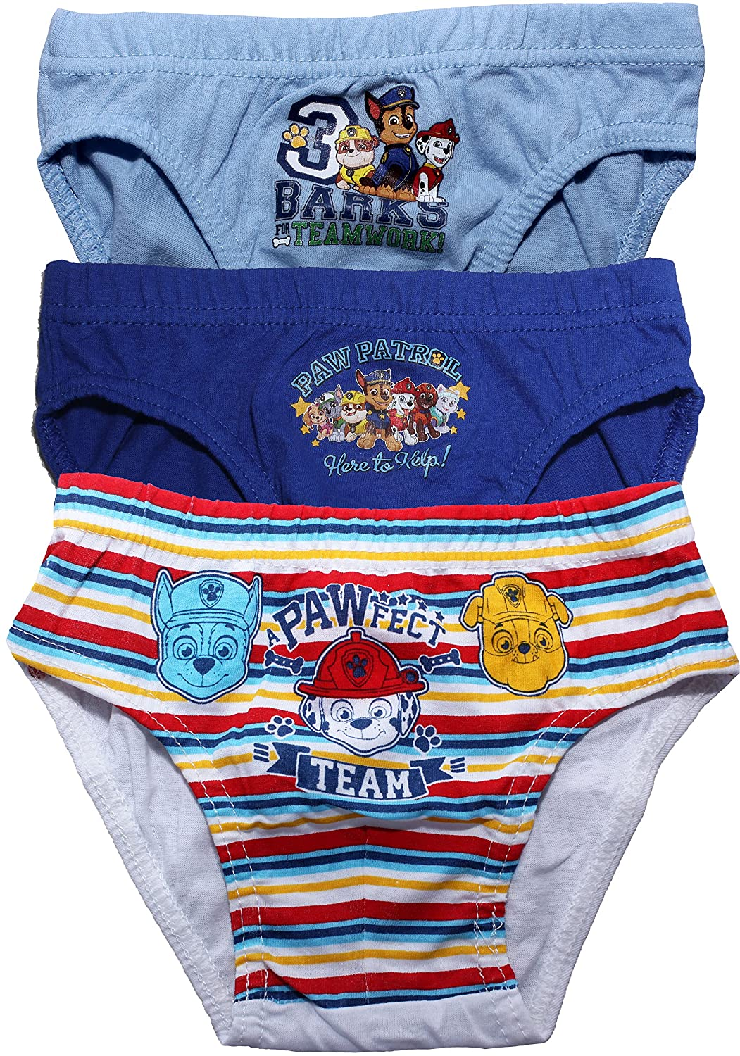 Paw Patrol Boys Marshall Childrens 3 Pack Underwear Briefs Set