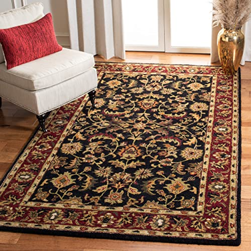 Safavieh Heritage Collection Handcrafted Traditional Oriental Black and Red Wool Area Rug 12' x 18'