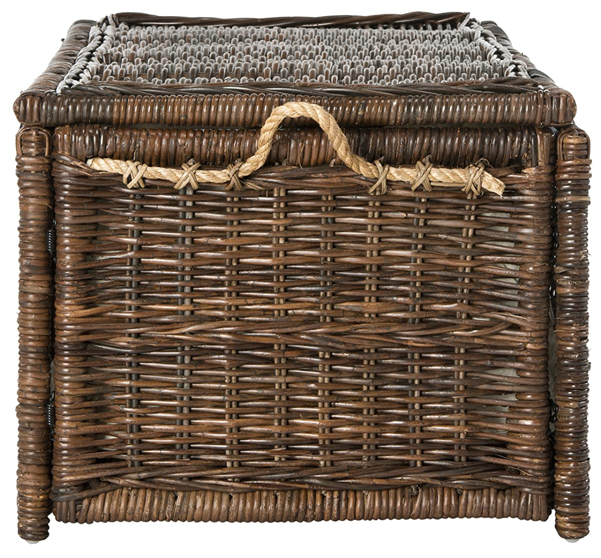 "happimess Caden 46"" Wicker Storage Trunk, Brown"