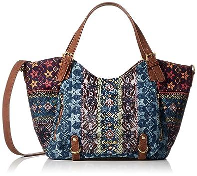 f952ca71cafc Desigual Women s Top-Handle Bag jeans colour One Size  Amazon.co.uk  Shoes    Bags