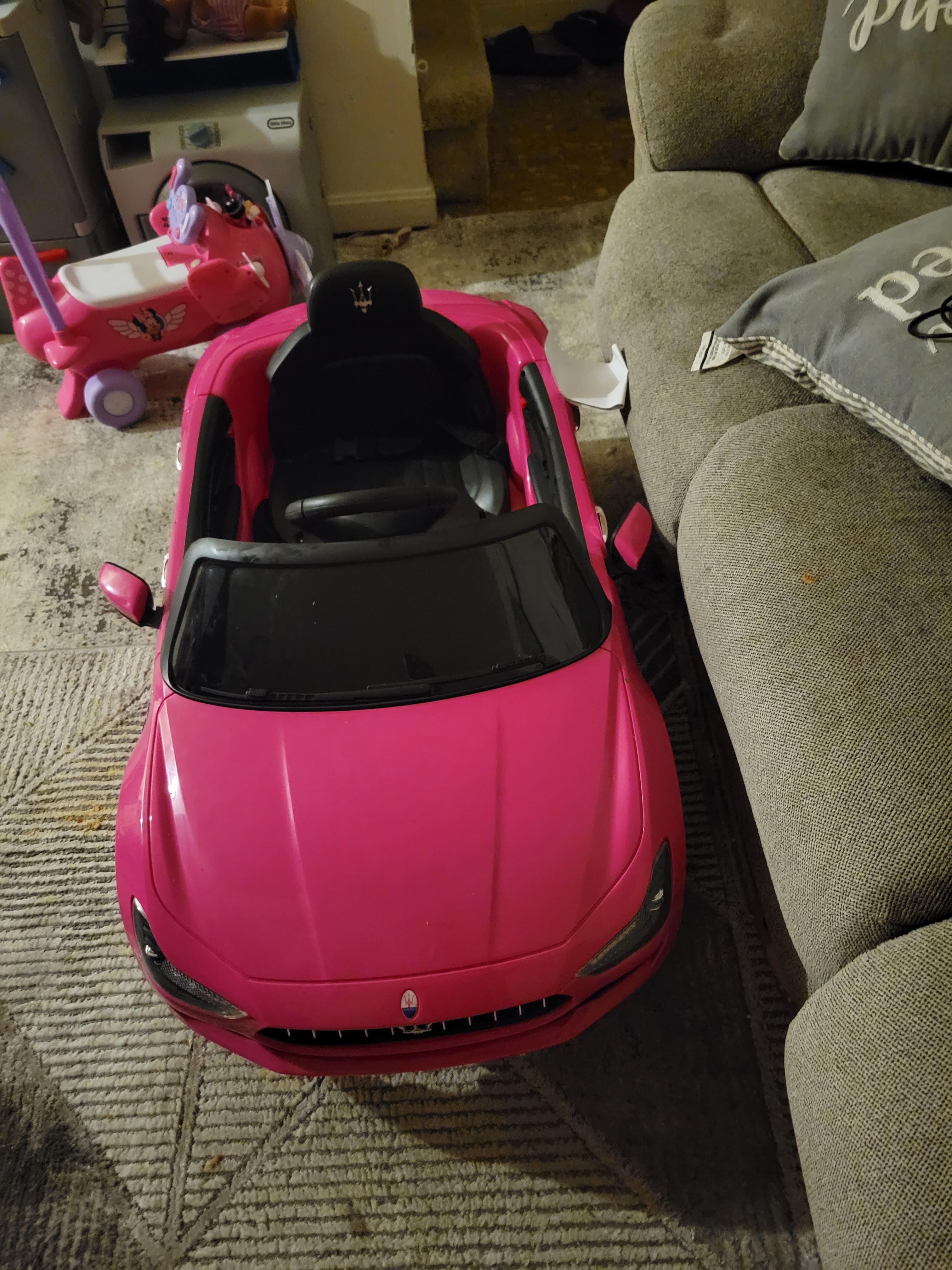 12V Maserati Licensed Kids Ride On Car with Remote Control, Pink photo review