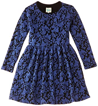 YUMI GIRLS Mädchen Skater Kleid Textured Butterfly Dress, Knielang, Gr.  116-128 08f6b1f105