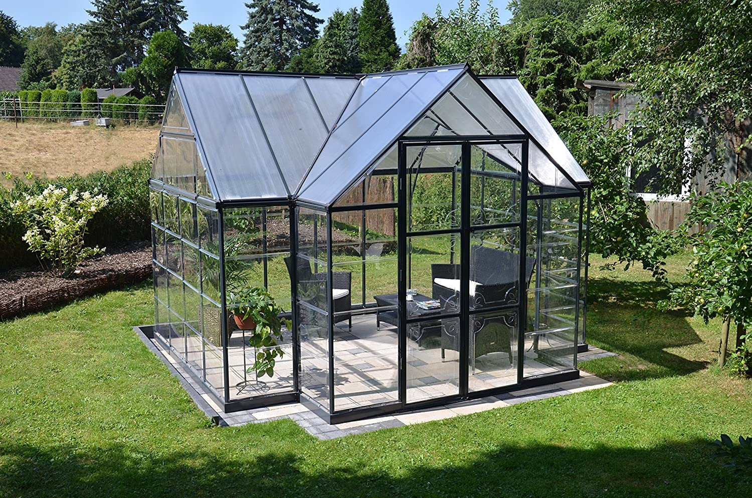 amazon com palram four season chalet hobby greenhouse 12 x 8 x