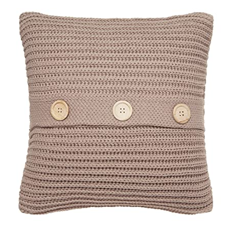 Catherine Lansfield Chunky Knit Cushion Cover Natural 45x45cm