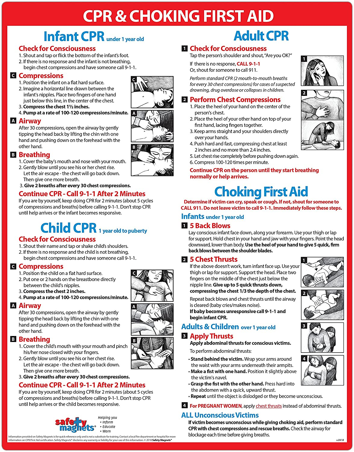 Amazon Cpr Choking First Aid For Infants Children And