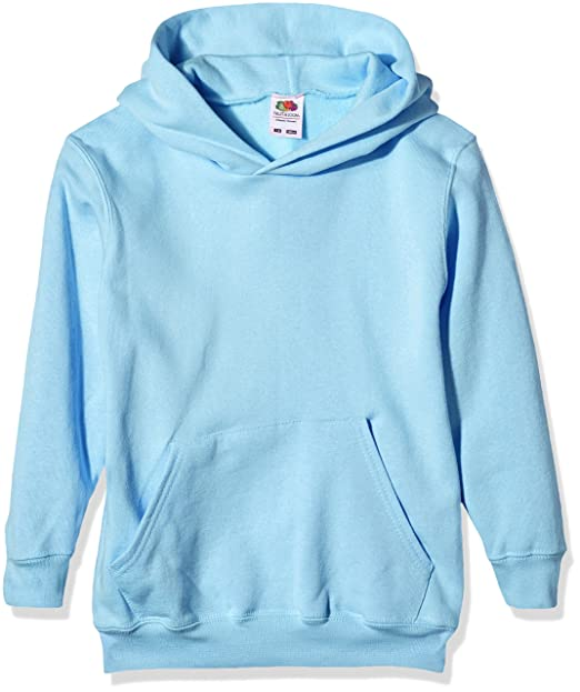 Fruit Of The Loom SS026B, Sudadera con Capucha para Niños, Azul (Sky Blue