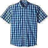 Cutter & Buck Mens BCW00201 Big & Tall Short Sleeve Strive Shadow Plaid Button Up Shirt Short Sleeves Button Down Shirt…