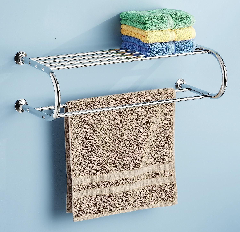 Amazon.com: Whitmor Chrome Shelf and Towel Rack: Home & Kitchen