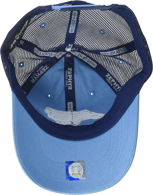 Adjustable Team Color NCAA Zephyr North Carolina Tar Heels Mens Freeway Relaxed Hat