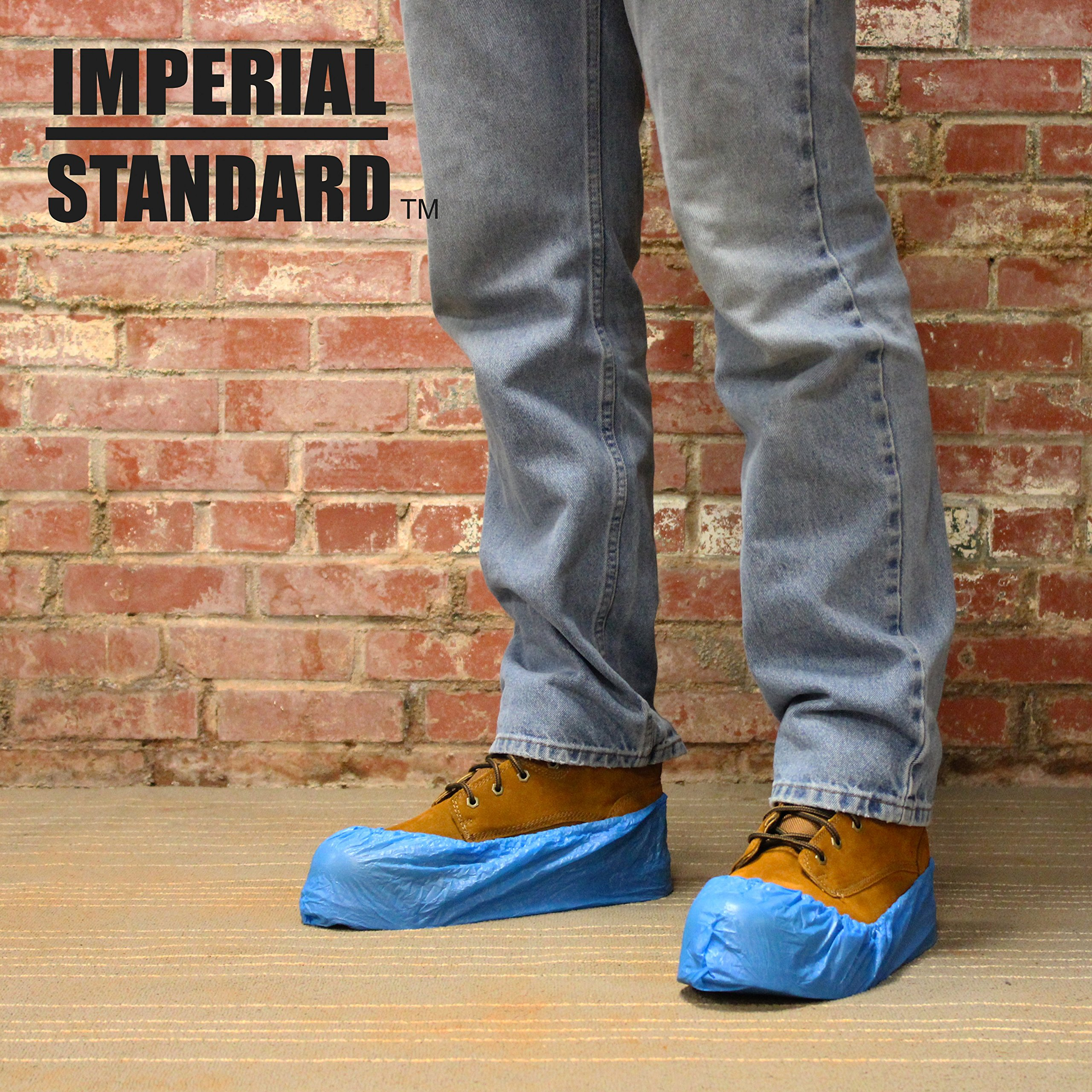 Waterproof Boot Covers for Professionals - XL Disposable Shoe Covers - Non-Slip Waterproof Shoe Protectors - Fits up to Size 13 Work Boot and Size 14 Shoe - (100 pack) by Imperial Standard (Image #4)
