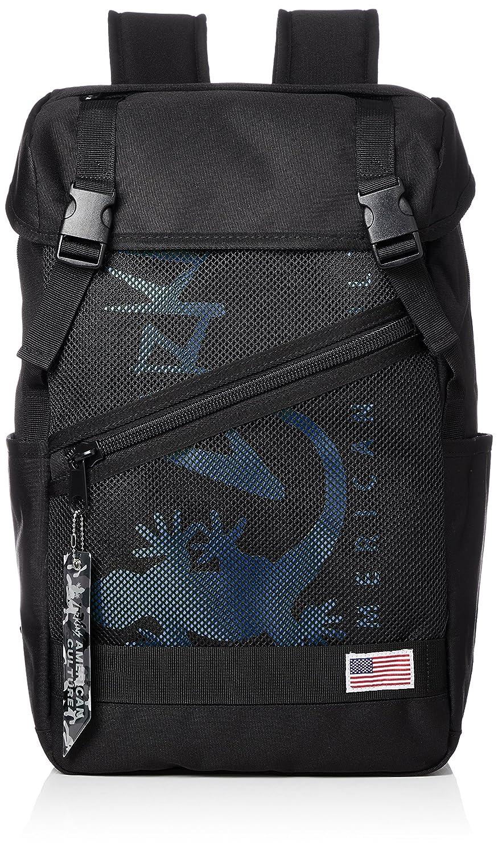 [ラーキンス]バックパック LKLA-05 メッシュポケット B07B4RD4W6 ブラック/ブルー ブラック/ブルー