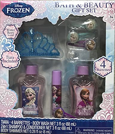 148ba055b5b Amazon.com : Disney Princess or Frozen Royal Beauty 6 pcs Christmas Bath  Gift Set for Girl over 3 years Old (DISNEY FROZEN) : Beauty