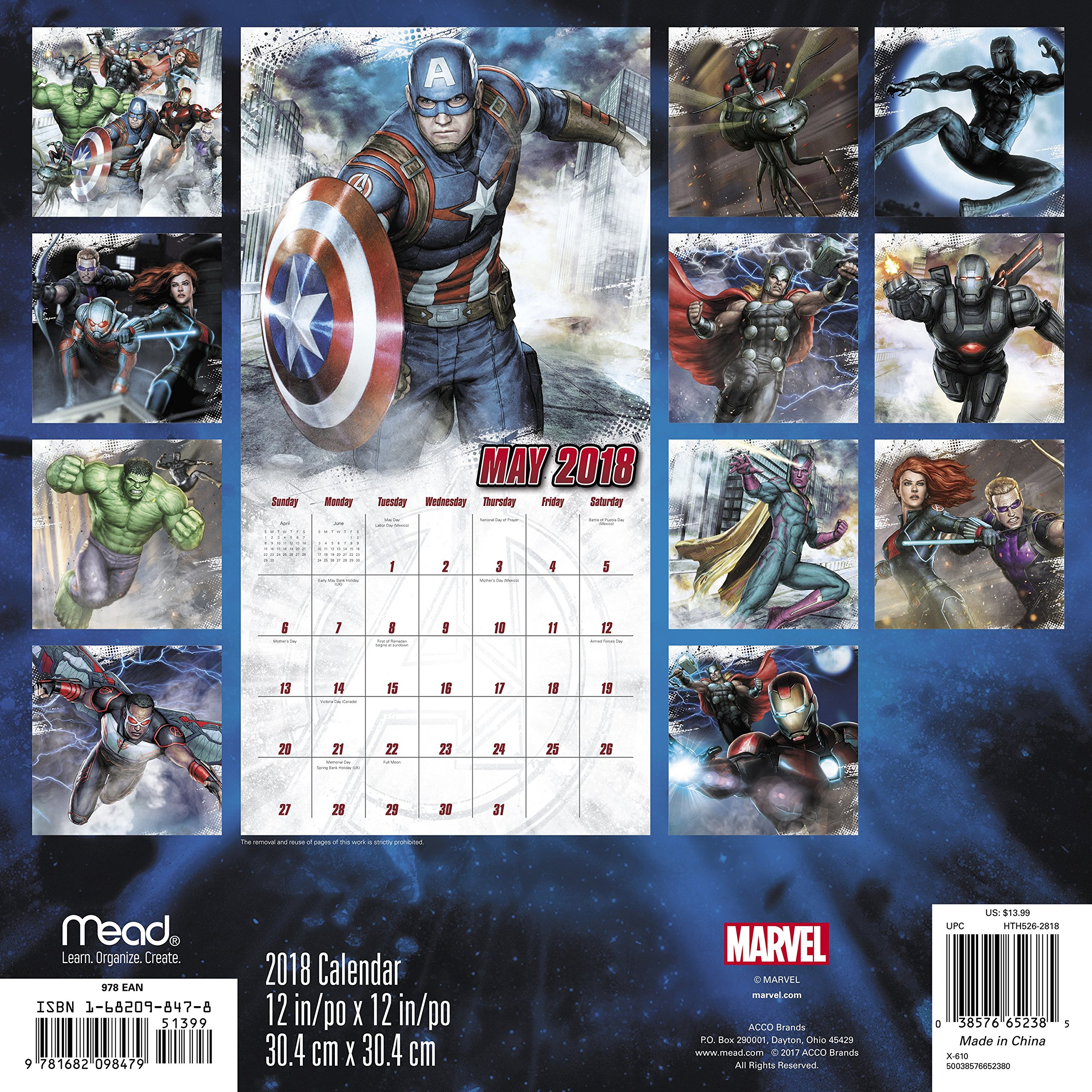 2018 Marvel's Avengers Assemble Wall Calendar (Mead): Mead