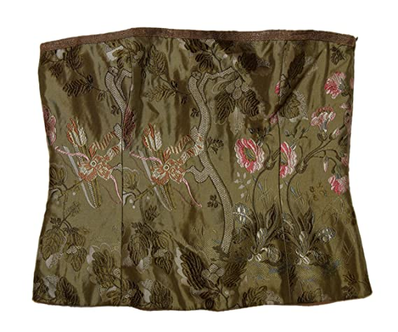 d6a51c0626 Ralph Lauren Polo Black Label Womens Silk Floral Corset Tube Top Tank Green  Pink 12 at Amazon Women s Clothing store  Tank Top And Cami Shirts