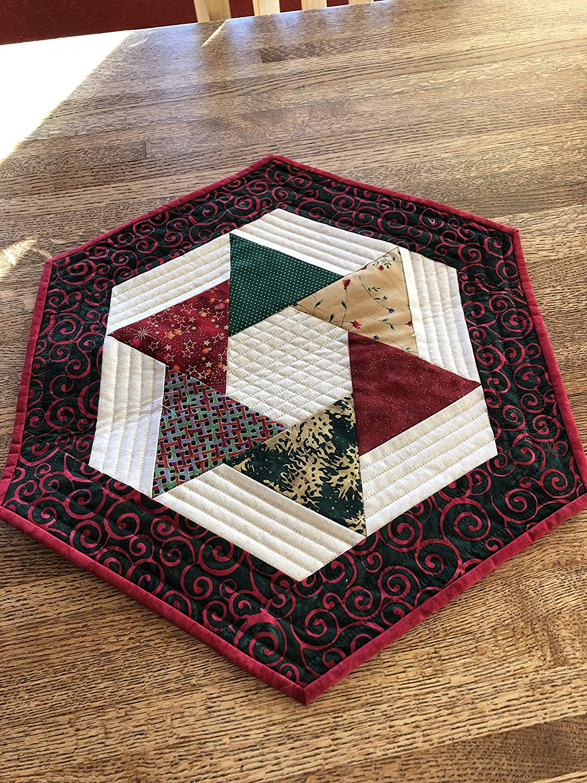 Amazon Com Hexagon Quilted Table Runner Handmade
