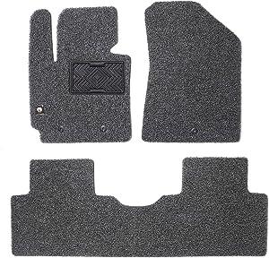 MACHA Coil Car Floor Mats Custom Fit for KIA Soul 2013.Oct~2019.Feb, Gray - Front & 2nd Seat Floor Mats All Weather Waterproof High Comfort
