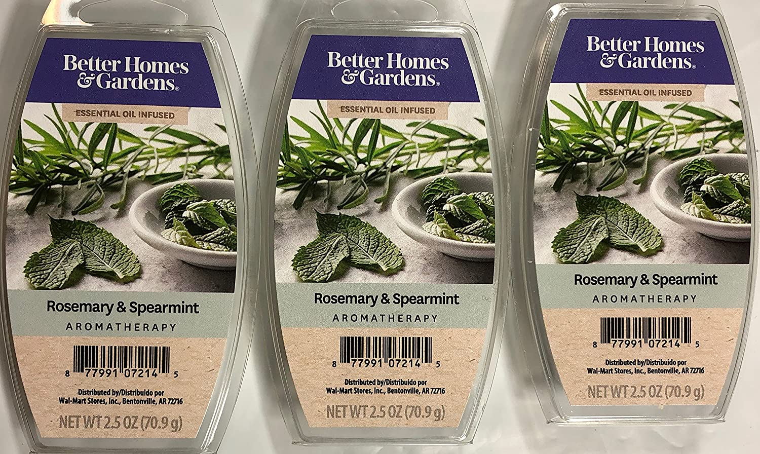 Better Homes and Gardens Rosemary & Spearmint Essential Oil Infused Wax Cubes - 3-Pack
