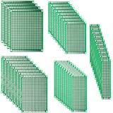 DEYUE 40PCs PCB Double-Sided Prototyping PCBs Circuit Boards Kit | 5 Size Universal untraced Perforated Printed Circuits…